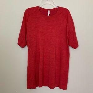 Lululemon Mens Metal Tech Short Sleeve Red Shirt